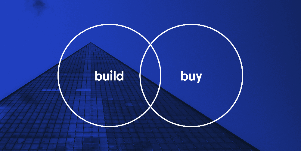 Words build and buy in a venn diagram